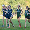 AMANDA SABGA/Staff photo. <br /> <br /> A pack of runners at the halfway point during a cross country meet between Manchester Essex and Hamilton-Wenham at Patton Park in Hamilton. <br /> <br /> 10/18/17