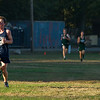 AMANDA SABGA/Staff photo. <br /> <br /> Hamilton-Wenham's Charlie Butler approaches the finish during a cross country meet between Manchester Essex and Hamilton-Wenham at Patton Park in Hamilton. <br /> <br /> 10/18/17