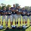 The 2014 Hamilton-Wenham Generals offense will be led by junior quarterback CJ Cooper, junior fullback Kai Khristich, senior captain and wide receiver Jimmy Baras, senior captain and tight end Nolan Wilson, senior captain and wide receiver Jimmy Campbell, junior running back Jimmy Littlefield, and junior quarterback Thomas Rostad. DAVID LE/Staff photo. 9/3/14.