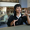 KEN YUSZKUS/Staff photo. Jessica Ulloa of Gloucester is a student at the new Essex Tech in Danvers.   9/3/14