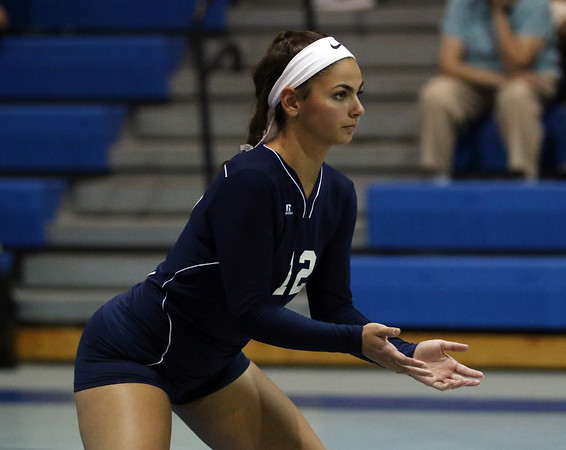 DAVID LE/Staff photo. Peabody senior captain and outside hitter Alyssa Alperen is one of the veteran leaders for the Tanners this fall. 9/27/16.