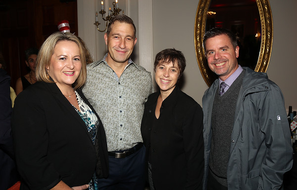 DAVID LE/Staff photo. From left, Nuala Friel Wright, Steve Wright, and Sarah Dietrich, of Salem State University, and Chad Leith, Principal of the Horace Mann School, at the SEF Casino Night held at the Hawthorne Hotel on Thursday. 9/30/16.