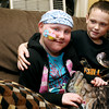 KEN YUSZKUS/Staff photo.  Desirae Desmond, 9, left, has a rare illness. Recently, her twin brother Jake, right, was able to give her a bone marrow transplant.   9/20/16