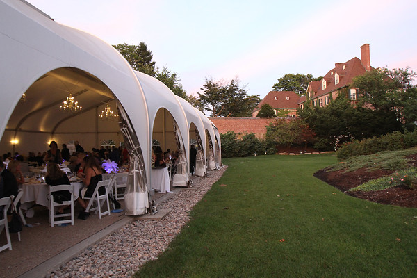 A tunnel was moved in the 1950s. Parts of it can you see here during the SeniorCare Gala dinner Wednesday, September 21, at Misselwood. Photo by Nicole Goodhue Boyd