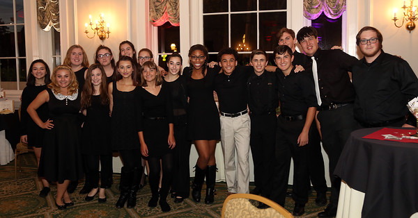 DAVID LE/Staff photo. The Salem High School a cappella group, Witch Pitch? performed at the SEF Casino Night to benefit the Salem School System, held at the Hawthorne Hotel on Thursday. 9/30/16.
