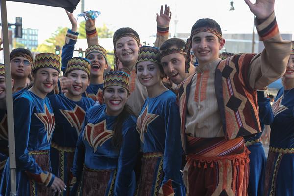 Photo/Reba Saldanha Members of the Sayat Nova Armenian dance troupe at the international festival in Peabody Square Sunday Sept 11, 2016.