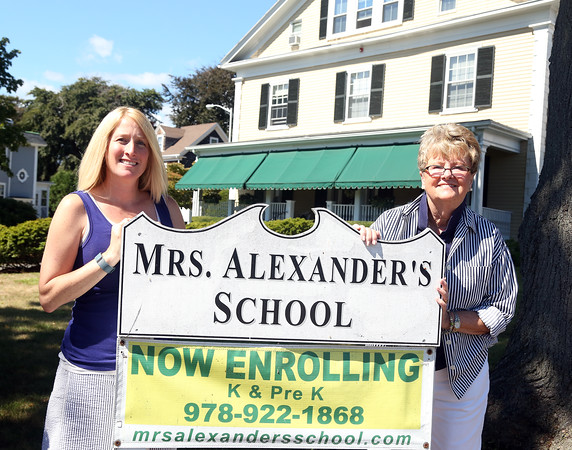 DAVID LE/Staff photo. Director of School Nichole Garry, left, and Executive Director Sandra Walor, of Mrs. Alexander's School will open it's doors once again this fall kindergarten and pre-k students. 9/2/16.