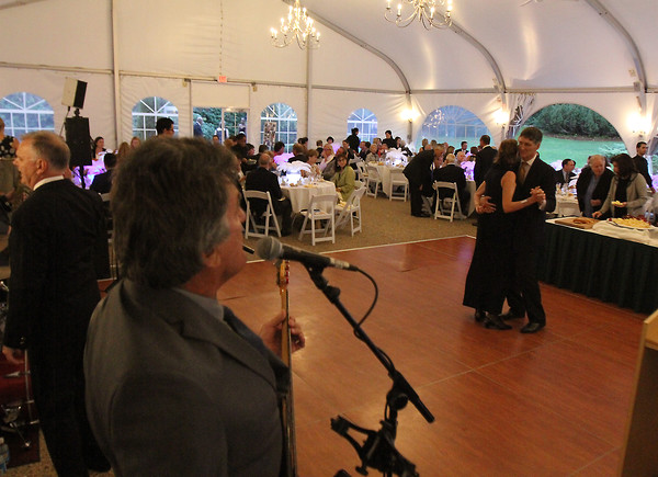 A couple dances to the sounds of Mad House during the SeniorCare Gala dinner Wednesday, September 21, at Misselwood. Photo by Nicole Goodhue Boyd