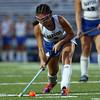 DAVID LE/Staff photo. Danvers' Rhianna Leslie rifles a shot on net against Beverly. 9/13/16.