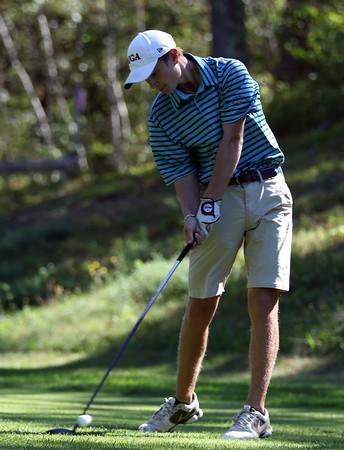 DAVID LE/Staff photo. St. John's Prep senior golfer Griffin Chenard. 9/2/16.