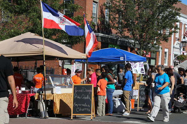 Photo/Reba Saldanha Delicias catering's booth at the international festival in Peabody Square Sunday Sept 11, 2016.