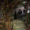 Lisa Pascucci, Shawna Scola and Joanne Mercaldi walk through twinkling trees during the SeniorCare Gala at Misselwood. Photo by Nicole Goodhue Boyd