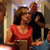 DAVID LE/Staff photo. Republican candidate for Essex County Sheriff Anne Manning-Martin, delivers her victory speech at her election party held at Kelley Square Pub in Peabody on Thursday night after beating out the other candidates. 9/8/16.