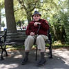 "HADLEY GREEN/Staff photo<br /> Irving Bacherman, 88, was born in Boston, and has lived on the North Shore for most of his life. He comes to the Willows a few times a week. ""I've known the Willows since I was a kid,"" he says. <br /> <br /> <br /> 09/01/17"