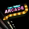HADLEY GREEN/Staff photo<br /> The Salem Willows arcade sign at night.<br /> <br /> 08/31/17