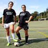 HADLEY GREEN/Staff photo<br /> Beverly girls soccer captains Stephanie Macleod and Aly Barr. <br /> 08/31/17