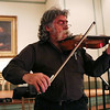 HADLEY GREEN/Staff photo<br /> Dave McKenna, vice president of the Danvers Historical Society, plays the violin at the Open Mic hosted by the Danvers Historical Society at Tapley Memorial Hall.<br /> 09/20/17