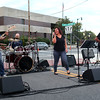 HADLEY GREEN/Staff photo<br /> The band Red Square performed at Peabody's block party on Chestnut Street next to City Hall. <br /> 09/08/17