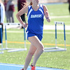 HADLEY GREEN/ Staff photo<br /> Danvers' Katie Crum runs at the Danvers v. Gloucester track meet at Danvers High School on Tuesday, April 18th, 2017.