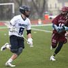 HADLEY GREEN/ Staff photo<br /> Swampscott's Walsh (8) runs with the ball while Gloucester's Connor Vittands (10) plays defense at the Swampscott v. Gloucester boys lacrosse game at the Bertram Athletic Field in Salem on Friday, April 21st, 2017.