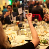 HADLEY GREEN/ Staff photo<br /> Guests toast champagne at the Essex National Heritage Area 20th anniversary gala held at the Peabody Essex Museum in Salem on Wednesday, April 5th, 2017