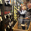 HADLEY GREEN/ Staff photo<br /> George and Judy Martel look at Total Wine and More's scotch selection during a preview party the store held for their new location at the Liberty Tree Mall on April 26th, 2017.