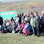 HADLEY GREEN/ Staff photo State and local environment groups gathered at Greenergy Park Solar Field next to Beverly High School to discuss new clean energy initiatives on Friday, April 14th, ...