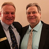 HADLEY GREEN/ Staff photo<br /> Brian Nelson, a Beverly Hall of Fame member inducted in 2014, stands with his longtime friend Larry Burns, also of Beverly, at this year's Beverly High Athletic Hall of Fame induction ceremony at the Danversport Yacht Club in Danvers on Saturday, April 1st, 2017.