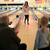 HADLEY GREEN/ Staff photo<br /> Gayle Mahnke of Illinois talks to her family after bowling at Sunnyside Bowladrome in Danvers on Friday, April 21st, 2017.