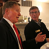 HADLEY GREEN/ Staff photo<br /> Beverly Hall of Fame members Bob Gilligan, left, and Jim Dawson, right, talk at this year's Beverly High Athletic Hall of Fame induction ceremony at the Danversport Yacht Club in Danvers on Saturday, April 1st, 2017.