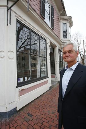Richard Jagolta stands outside 107 Federal Street in Salem