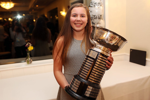 HADLEY GREEN/Staff photo<br /> Lydia Runnals of Danvers won the 2018 Salem News Student Athlete Award. <br /> <br /> 04/05/18