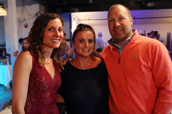 HADLEY GREEN/Staff photo<br /> From left, Pina Rizza of Reading, Cristina DeMaria of Saugus and Frank Rizza of Reading attend a fundraiser for Ella's Army, a nonprofit created in memory of Ella O'Donnell, a Peabody girl who died of a brain tumor.<br /> <br /> 04/26/18