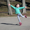 HADLEY GREEN/Staff photo<br /> Iggy Connolly, 4, of Salem, gives an impromptu dance performance on the outdoor stage of the Salem Willows.<br /> <br /> <br /> 04/07/18