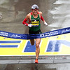 HADLEY GREEN/Staff photo<br /> Yuki Kawauchi of Japan came in first place in the men's elite division at the 122nd Boston Marathon. <br /> <br /> 04/16/18