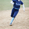 HADLEY GREEN/Staff photo<br /> Peabody's Makayla Rooney (7) rounds third base to go home at the Danvers v. Peabody girls softball game.<br /> <br /> 04/10/18
