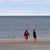 HADLEY GREEN/Staff photo<br /> Northeastern students Lucas Perez and Alrk Parmalee strong along Cranes Beach in Ipswich. <br /> <br /> 04/18/18