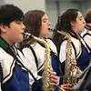 HADLEY GREEN/Staff photo<br /> The Danvers High School Jazz Band performs for the Meghan Duggan Day celebration in Danvers. <br /> <br /> 04/07/18