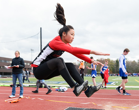Boys and girls track at Peabody High