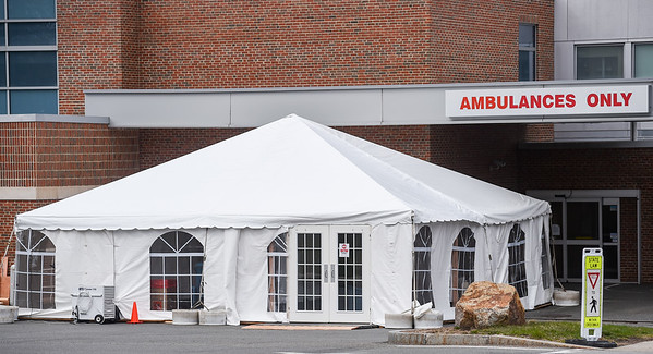 Outdoor Tents Setup at Bevery Hospital