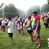 HADLEY GREEN/Staff photo<br /> More than one hundred people attended the rally for Love on Beverly Common. 8/18/17