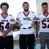 HADLEY GREEN/Staff photo<br /> Julio Fernandez, Victor Patino, Irvin Tineo<br /> <br /> Salem High Football Mugshots. 08/30/17