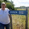 HADLEY GREEN/Staff photo<br /> Bill Clark stands next to Emerson Bog on route 114 in Middleton. The bog will possibly be turned into a reservoir in the future. 8/28/17