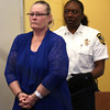 HADLEY GREEN/Staff photo<br /> Lori Ann Barron enters the Salem Superior Court to receive her sentence from Judge Kazanjian. Barron, 54, of Salem, N.H. was convicted of running a brothel in Lawrence, Massachusetts. <br /> <br /> 08/28/17