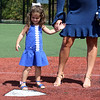 HADLEY GREEN/Staff photo<br /> Pete Frates' daughter, Lucy, and his wife, Julie, stand at home plate on the Pete Frates '03 Diamond at St. John's Prep. 08/30/17