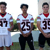HADLEY GREEN/Staff photo<br /> Kobe Estes, Devin Tolbert, Connor McRae<br /> <br /> Salem High Football Mugshots. 08/30/17