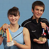 Keegan Richardson and Alex Rouillard with their recent gymnastics medals