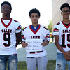 HADLEY GREEN/Staff photo<br /> Wayne Holloway, Jaydrian Garcia, Ethan Garcia<br /> <br /> Salem High Football Mugshots. 08/30/17