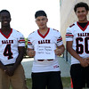 HADLEY GREEN/Staff photo<br /> Chris Ngarambe, Camrin Pagliaro, Martin Tavera<br /> <br /> Salem High Football Mugshots. 08/30/17