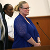 HADLEY GREEN/Staff photo<br /> Lori Ann Barron receives her sentence from Judge Kazanjian at Salem Superior Court. Barron, 54, of Salem, N.H. was convicted of running a brothel in Lawrence, Massachusetts. <br /> <br /> 08/28/17